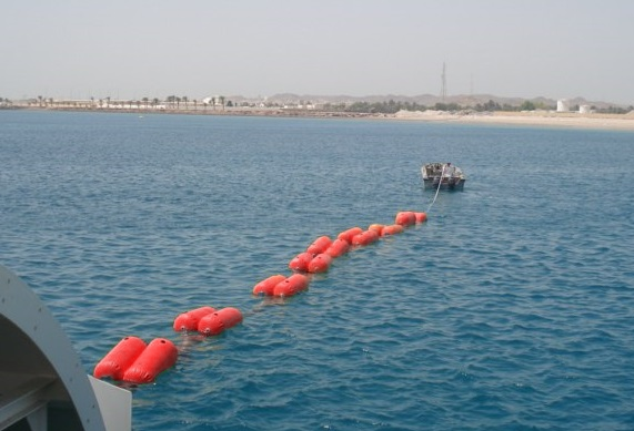 Cable Float on sea